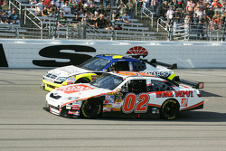 Joey Logano and Robby Gordon