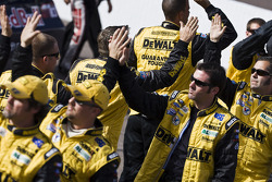 The DeWalt Crew slap hands after the National Anthem