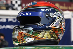 Helmet specially prepared for the China race of Alex Zanardi, BMW Team Italy-Spain, BMW 320si