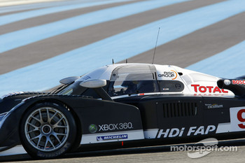 Sébastien Loeb in the Peugeot Sport Total Peugeot 908