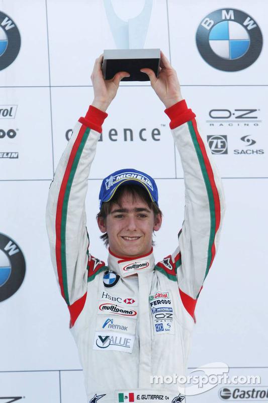 Podium: third place Esteban Gutierrez