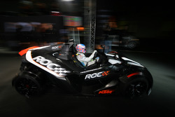 Jenson Button leaves the pits in a KTM X-Bow