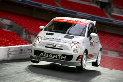 Abarth 500 Assetto Corse takes the jump on the bridge