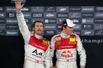 Podium: second place Mattias Ekström and Tom Kristensen (Team Scandinavia)