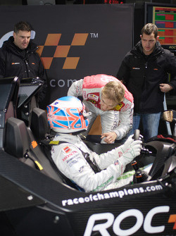 Jenson Button and Mattias Ekström