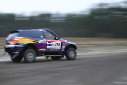 X-raid team: Peter van Merksteijn and Eddy Chevaillier test the #318 BMW X3 CC