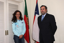 Olzoban Man Portugal Man driver Elisabete Jacinto visits the Chile embassy in Lisbon