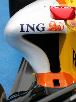 Bodywork detail of the new Renault R29