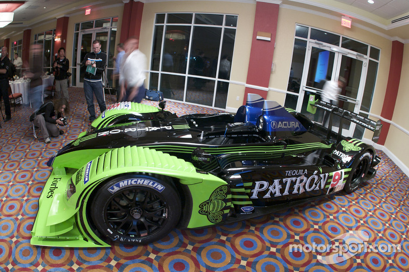 #9 Patron Highcroft Racing Acura ARX 02a Acura on display