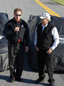 Hendrick Motorsports' 25th anniversary season car unveiling event: Darrell Waltrip and Rick Hendrick