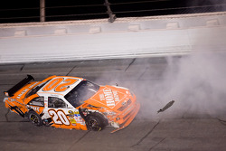 Joey Logano loses control in turn four