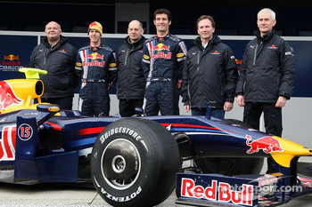 Rob Marshall, Sebastian Vettel, Red Bull Racing, Adrian Newey, Red Bull Racing, Technical Operations Director, Mark Webber, Red Bull Racing, Christian Horner, Red Bull Racing, Sporting Director, Geoff Willis, Red Bull Racing, Technical Director