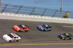 Scott Riggs, Tommy Baldwin Racing Toyota, Tony Stewart, Stewart-Haas Racing Chevrolet, John Andretti, Earnhardt Ganassi Racing Chevrolet, Jeremy Mayfield, Mayfield Motorsports Toyota