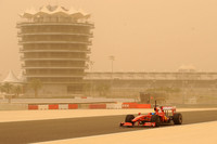 Felipe Massa, Scuderia Ferrari on track during a sandstorm
