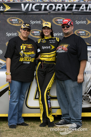 Miss Spint Cup Series Anne-Marie Rhodes poses with fans