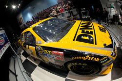 Champion's breakfast: the 2009 Daytona 500 Roush Fenway Racing Ford winning car of Matt Kenseth on display inside the Daytona 500 Experience building where it will remain for a full year