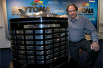 Press conference: Lord March poses with the Harley F. Earl Daytona 500 Trophy
