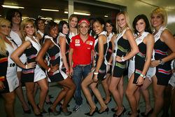Felipe Massa meets the grid girls