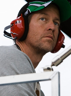 Actor James Denton watches the race