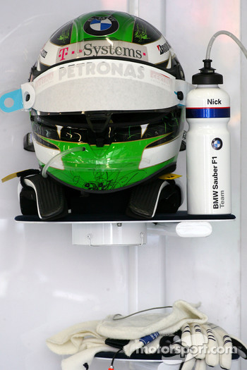 Helmet of Nick Heidfeld, BMW Sauber F1 Team