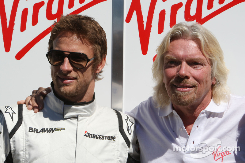 Jenson Button, Brawn GP and Sir Richard Branson CEO of the Virgin Group makes and announcement regarding the Virgin sponsorship deal with Brawn GP