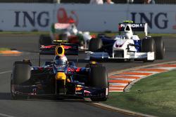 Sebastian Vettel, Red Bull Racing, RB5 leads Nick Heidfeld, BMW Sauber F1 Team, F1.09