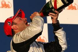 Podium: second place Rubens Barrichello