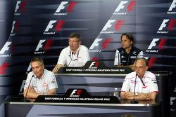 FIA press conference: Martin Whitmarsh, McLaren, Chief Executive Officer, Ross Brawn Brawn GP Team Principal, Adam Parr, Williams F1 Team, John Howett, Toyota Racing, President TMG