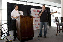 Office Depot Chamber day in the Speedway Club at the Texas Motor Speedway: Ryan Newman speaks