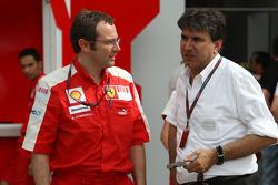 Stefano Domenicali, Scuderia Ferrari, Sporting Director, Pasquale Lattuneddu, FOM, Formula One Management