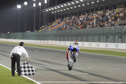 Jorge Lorenzo, Fiat Yamaha Team takes the checkered flag for the third place