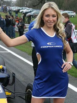 Cooper Tires' official grid girl, the lovely Sarah