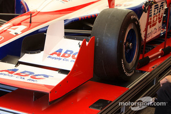 A.J. Foyt Enterprises car of Vitor Meira at tech inspection
