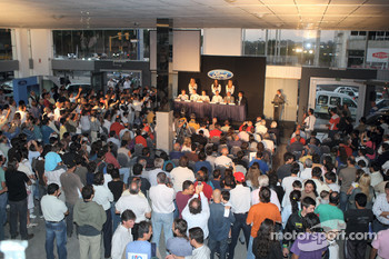 The BP Ford Abu Dhabi World Rally Team press conference at Maipu Ford Dealership in Cordoba