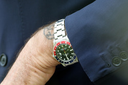 The watch and tatoo of Luca di Montezemolo, Scuderia Ferrari, FIAT Chairman and President of Ferrari