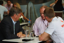 Richard Lapthorne, New non-executive chairman of the McLaren Group and owner of the F1 racing team, Alan Donnelly, FIA and Martin Whitmarsh, McLaren, Chief Executive Officer