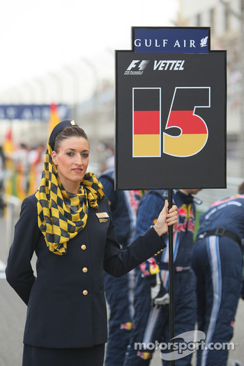 Grid girl of Sebastian Vettel, Red Bull Racing