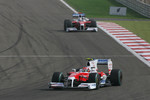 Timo Glock, Toyota F1 Team and Jarno Trulli, Toyota Racing