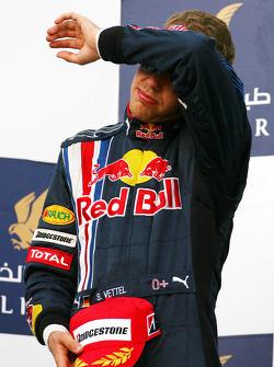 Podium: second place Sebastian Vettel, Red Bull Racing