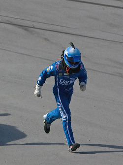 Carl Edwards, Roush Fenway Racing Ford, sprints for the finish line to finish the race
