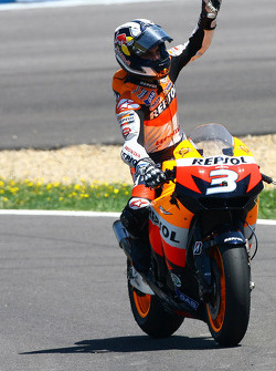 Second place Dani Pedrosa, Repsol Honda Team celebrates