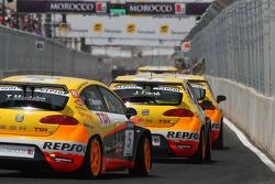 Tiago Monteiro, Seat Sport, Seat Leon 2.0 TDI and Jordi Gene, Seat Sport, Seat Leon 2.0 TDI