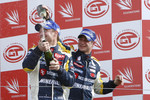 GT1 podium: third place Xavier Maassen and Guillaume Moreau