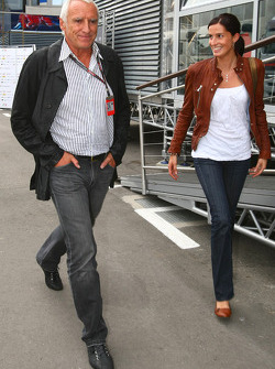 Dietrich Mateschitz, Owner of Red Bull with his girlsfriend Marion Feichtner