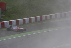 Crash with Jarno Trulli, Toyota F1 Team