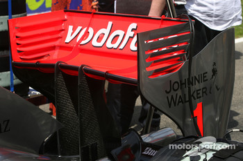 McLaren Mercedes rear wing detail