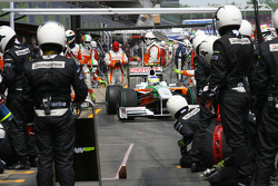 Giancarlo Fisichella, Force India F1 Team pit stop