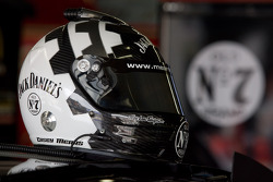 Jack Daniel's helmet in the garage