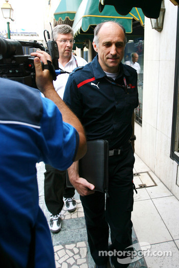 Franz Tost, Scuderia Toro Rosso, Team Principal goes to the meeting with Bernie Ecclestone and Max Mosley at the ACM.