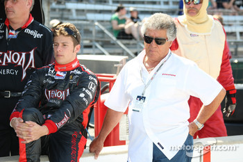 Marco Andretti with grandfather Mario